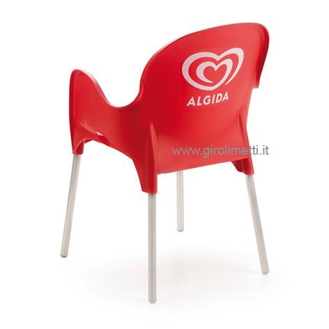 Sedia rossa premium girolimetti for Sedia rossa