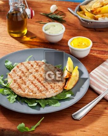 Hamburger di pollo e tacchino grigliato – cotto